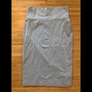 F21 | Gray Midi Bodycon Skirt Sz M